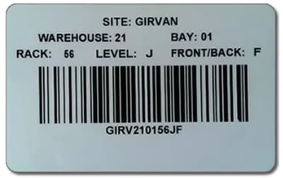 barcode location label
